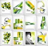 Geometric abstract business template Royalty Free Stock Photos