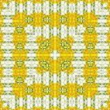 Geometric abstract camomile and dandelion square pattern in yellow and green, picture of spring. Geometric abstract camomile and dandelion square pattern in Stock Image