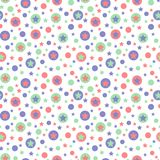 Geometric abstract christmas circles and stars seamless pattern Stock Photo