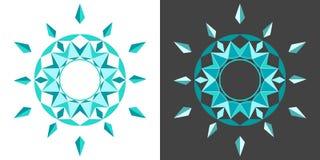 Geometric abstract circular drawing. Abstract circular drawing with colored geometric elements stock illustration