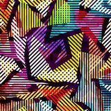 Geometric abstract color pattern in graffiti style. Quality vector illustration for your design Royalty Free Illustration