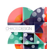 Geometric abstract composition - circles layout. With light effects Royalty Free Stock Images