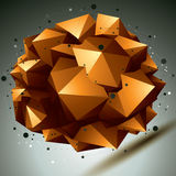 Geometric abstract 3D complicated lattice object Stock Photo