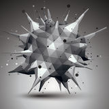 Geometric abstract 3D complicated lattice object Royalty Free Stock Photo
