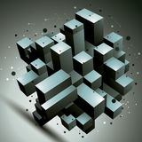 Geometric abstract 3D complicated lattice object Royalty Free Stock Photos