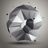 Geometric abstract 3D complicated lattice object, single color a Royalty Free Stock Photography