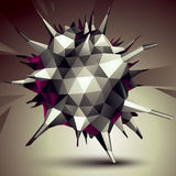 Geometric abstract 3D complicated object, single color asymmetri. C element Stock Photography