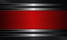 Geometric design with a metal grille and a textured red frame. Geometric abstract design with a metal grille and a textured red frame royalty free illustration