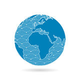 Geometric abstract earth globe sphere concept illustration. Royalty Free Stock Photo