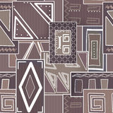 Geometric abstract elements seamless pattern Stock Photography