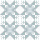 Geometric abstract elements seamless pattern Royalty Free Stock Photos