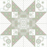 Geometric abstract elements seamless pattern Stock Images