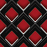 Geometric abstract elements seamless pattern background Stock Photo