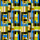 Geometric abstract elements seamless pattern retro background Royalty Free Stock Photo