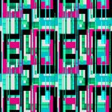 Geometric abstract elements seamless pattern retro background Stock Image