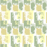Geometric abstract elements seamless pattern wih flowers Stock Images