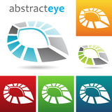 Geometric abstract eye shape Royalty Free Stock Images