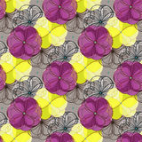 Geometric abstract floral seamless pattern background Royalty Free Stock Photos