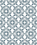 Geometric abstract flowers monochrome seamless pattern Stock Photo
