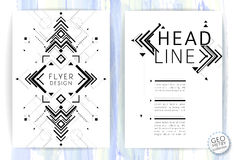 Geometric abstract flyer stock illustration
