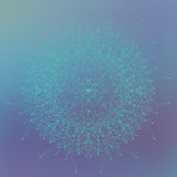 Geometric abstract form with connected lines and dots. Vector illustration Royalty Free Stock Photos