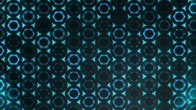 Geometric abstract futuristic green background with hexagons with light rays. stock video footage