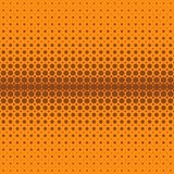 Geometric abstract halftone dot pattern background - vector design from circles in varying sizes Stock Photography