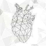 Geometric abstract heart Royalty Free Stock Images