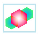Geometric abstract icon Stock Photo