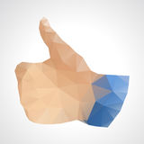 Geometric abstract like button - vector illustration Stock Photography