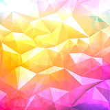 Geometric abstract low poly background Stock Images