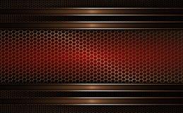 Geometric mesh background of dark red, golden hue. Geometric abstract mesh background with a rectangular frame of dark red, golden hue Stock Image