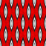 Geometric abstract objects on red background seamless pattern Royalty Free Stock Photography