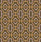 Geometric abstract oriental seamless pattern Royalty Free Stock Photo