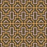 Geometric abstract oriental seamless pattern. Vector illustration Royalty Free Stock Photo