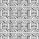 Geometric abstract oriental seamless pattern. Vector illustration stock illustration