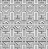 Geometric abstract oriental seamless pattern. Vector illustration Stock Image