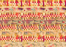 Abstract colorful block print pattern. Geometric Abstract Owl Pattern For Textiles stock images