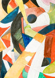 Geometric abstract painting - illustration Stock Photography