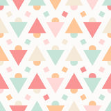 Geometric abstract pastel seamless pattern on white Stock Image