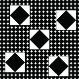 Geometric abstract pattern with black squares and circles. Geometric background royalty free illustration