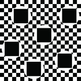 Geometric abstract pattern with black squares and circles. Geometric background. Vector vector illustration