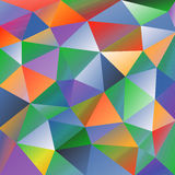 Geometric Abstract Pattern. Geometric pattern with colorful triangles. Abstract ornament for wallpapers and backgrounds Royalty Free Stock Photo