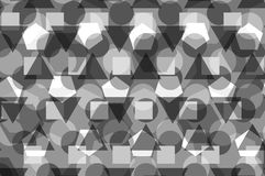 Geometric background - gray,. Geometric abstract pattern - gray, Polygons background Stock Images
