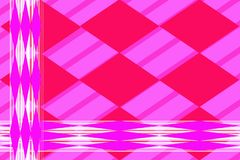 Geometric abstract pattern. Lilac elongated rhombuses against white lines. vector illustration