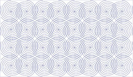 Geometric abstract pattern of lines, light blue. Geometric, repeating abstract pattern of spiral lines Royalty Free Stock Photography