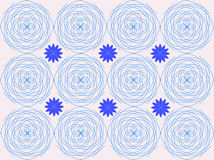 Geometric abstract pattern of lines, light blue. Geometric, repeating abstract pattern of spiral lines Stock Photos
