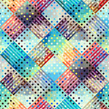Geometric abstract pattern. Seamless background pattern. Geometric diagonal plaid pattern Stock Photos