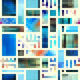 Geometric abstract pattern. Seamless background. Geometric abstract pattern in a patchwork style royalty free illustration