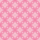 Geometric abstract pattern. Geometric abstract seamless pattern on pink background Royalty Free Stock Image